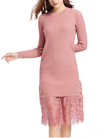 31a5d97b87c 2019 Pink Lace Sweater Best Online For Sale