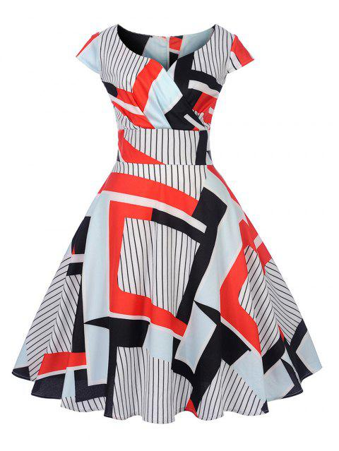 8fd8b44b479 New Women s Vintage 50s 60s Printing Retro Rockabilly Pinup Housewife Party  Swing Dress - RED S