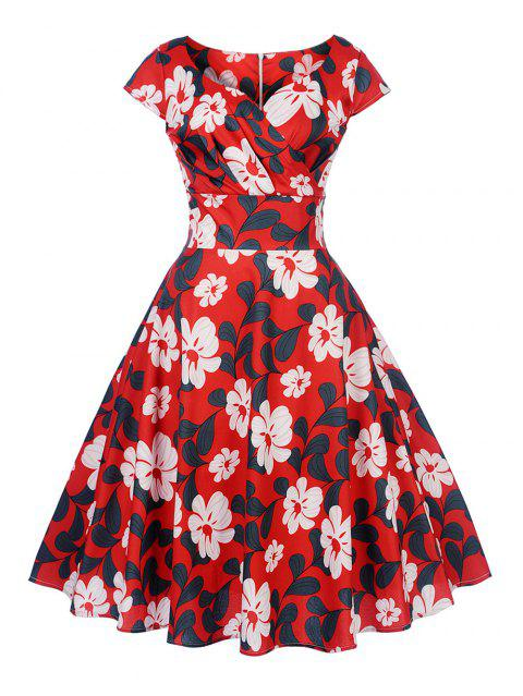 1da4c9549e4 New Women s Vintage 50s 60s Retro Rockabilly Pinup Housewife Party Swing  Dress - RED XL
