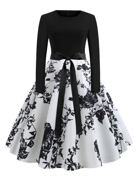 4571275770 -41%OFF. Women's Sexy Round Neck Vintage Style Pinup Swing Fashion Printing  Evening Party Rockabilly Retro Dress