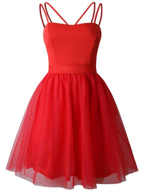 2019 New Womens Sling Swing Dress Cocktail Prom Party Dress - RED L