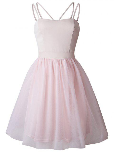 2019 New Womens Sling Swing Dress Cocktail Prom Party Dress - PINK XL