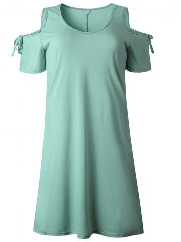adfc4ee263256 2019 New Women Cold Shoulder Tunic Top T-Shirt Swing Dress