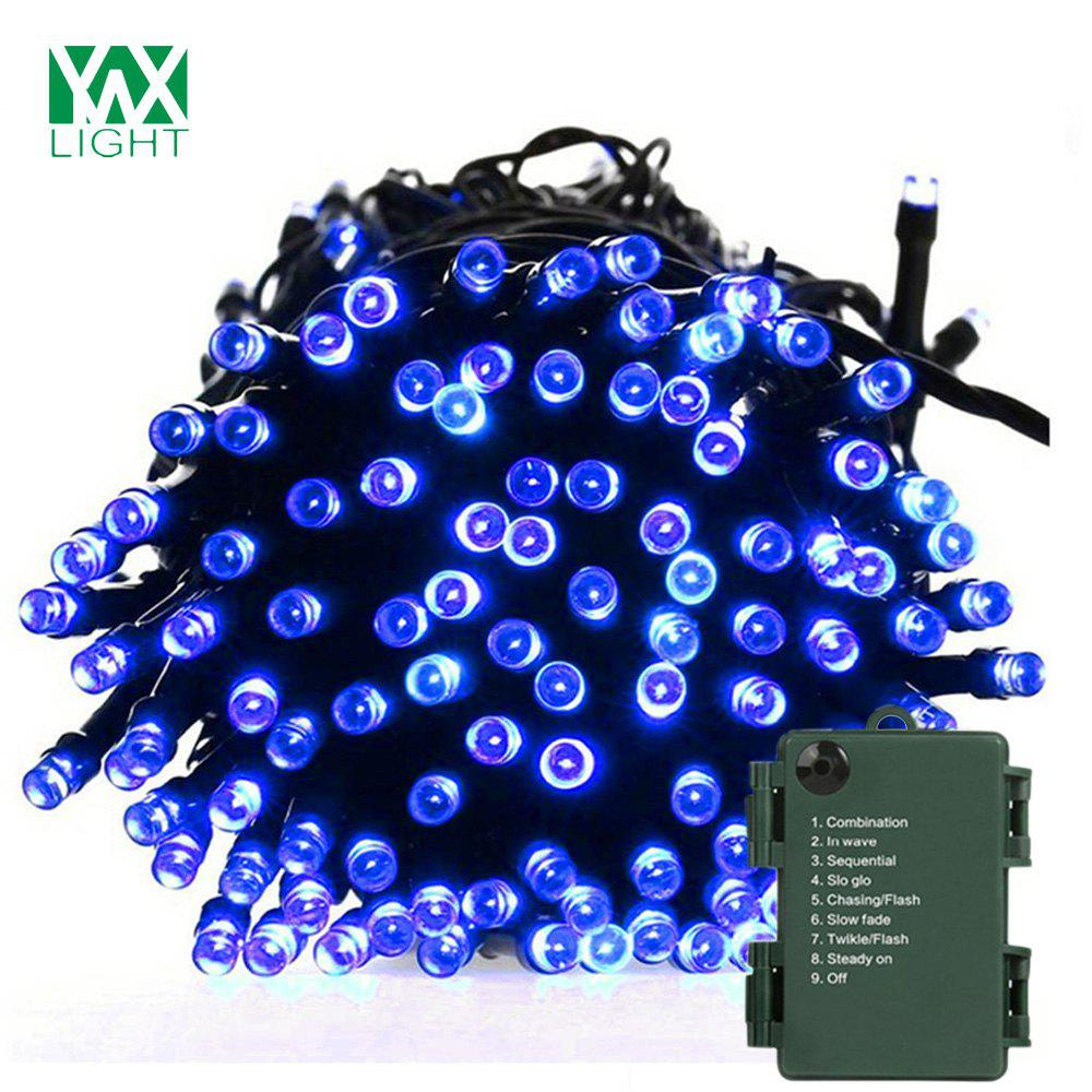 ywxlight 15m waterproof battery powered led string light for christmas decoration dc 5v blue