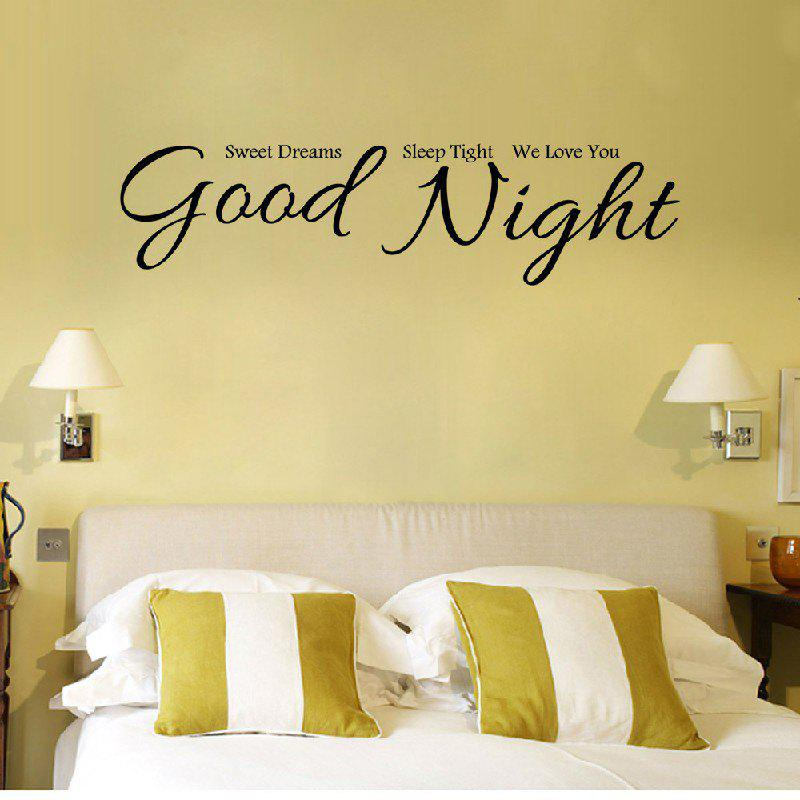 2018 YEDUO Good Night Sweet Dreams Romantic Bedroom Wallstickers ...