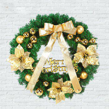 MCYH 1PC 40cm Christmas Wreath with Bow Door Drop Room Ornaments Decor - MARIGOLD MARIGOLD