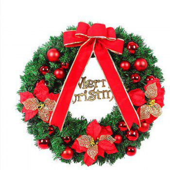 MCYH 1PC 40cm Couronne de Noël avec Bow Door Drop Room Ornaments Decor - Rouge