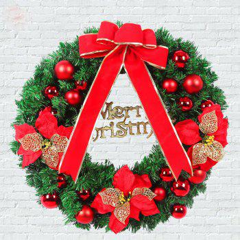 MCYH 1PC 40cm Christmas Wreath with Bow Door Drop Room Ornaments Decor - SHOCKING SHOCKING