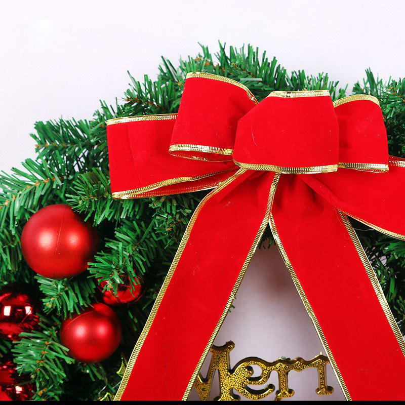 MCYH 1PC 40cm Christmas Wreath with Bow Door Drop Room Ornaments Decor - SHOCKING