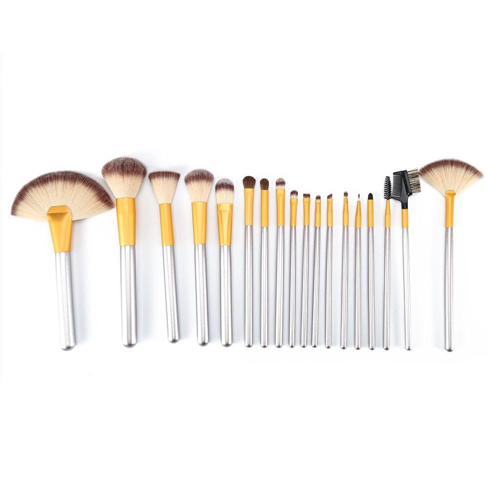 TODO 18pcs Professional Champagne Gold Makeup Brush Aluminium Handle - CHAMPAGNE GOLD