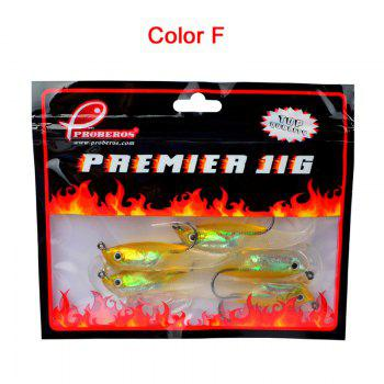 Colorful Soft Fish Road Bait - YELLOW