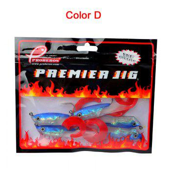 Colorful Soft Fish Road Bait - BLUE/WHITE