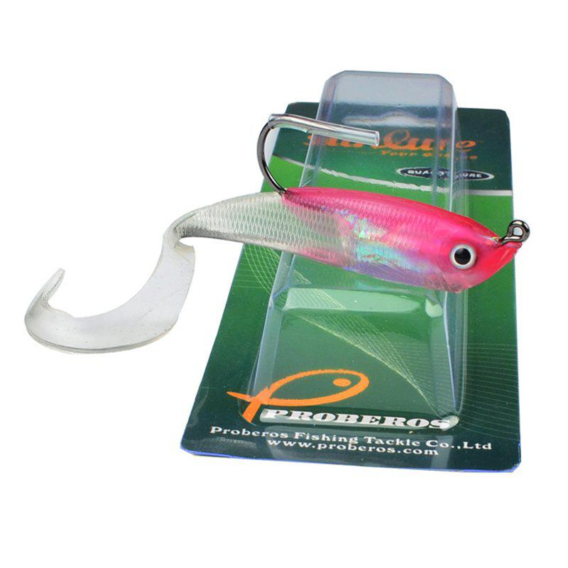 Colorful Soft Fish Road Bait - PINK/WHITE
