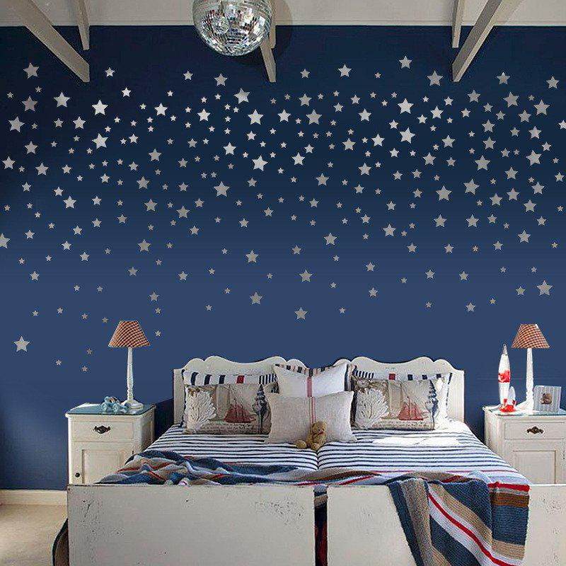 Home Decoration Silver Golden Foil Stars Removable Wall Stickers for Decor halloween decoration horror witch removable wall stickers for wall decor