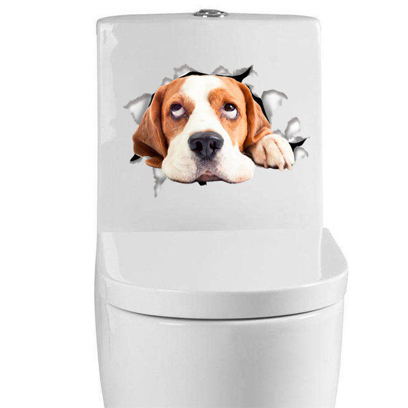 Home Decoration Cute Puppy Removable Toilet Wall Stickers