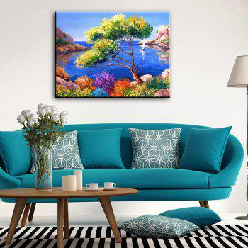 Hand-painted Landscape Beach Scenery Canvas Oil Painting
