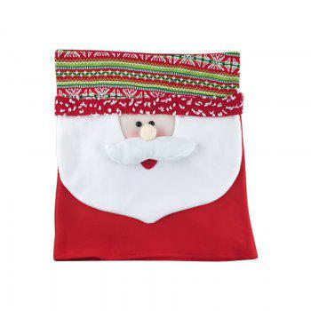 2Pcs Snowman Couple Chair Covers Christmas Decorations Ornament - COLORMIX
