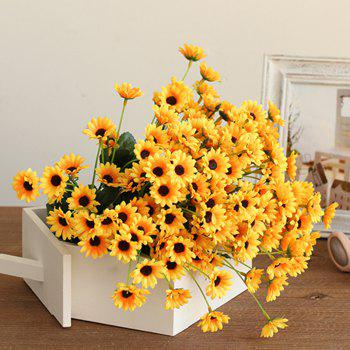 XM1 20Heads Mini Sunflower Artificial Flower - YELLOW YELLOW