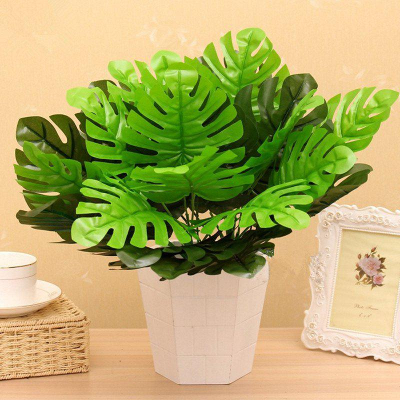 XM1 12 Bifurcate Monstera Home Decoration Artificial Plant - GREEN
