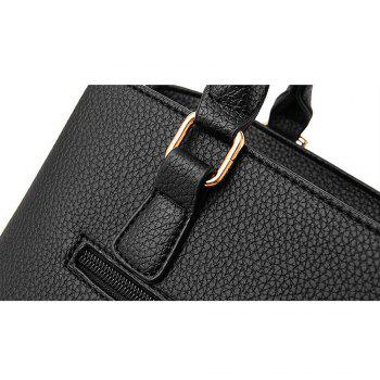 Diagonal Hollow Lady Single Shoulder Bag with a Pendant -  BLACK