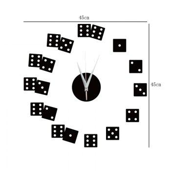 DIY Dice Acrylic Mirror Wall Stickers Wall Clock Stickers -  SILVER