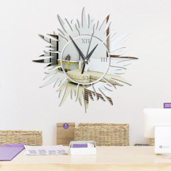 DIY the Sun Acrylic Mirror Wall Stickers Wall Clock Stickers - SILVER SILVER
