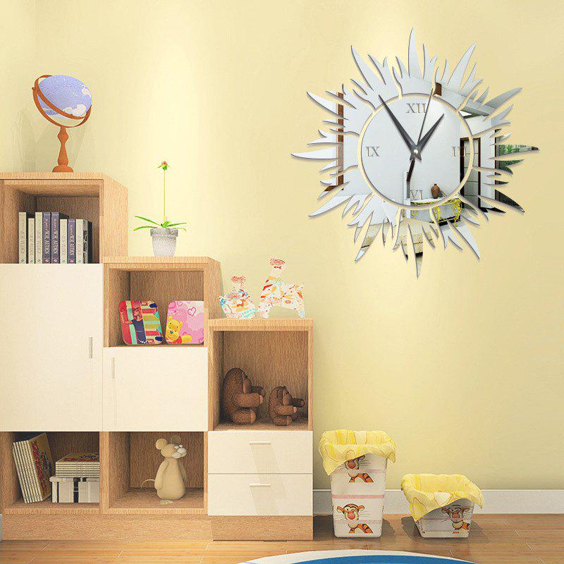 DIY the Sun Acrylic Mirror Wall Stickers Wall Clock Stickers - SILVER