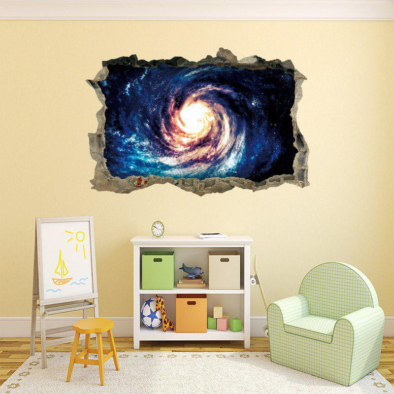 Home Decoration 3D Black Hole Vortex Removable Wall Stickers For Wall Decor    COLORMIX