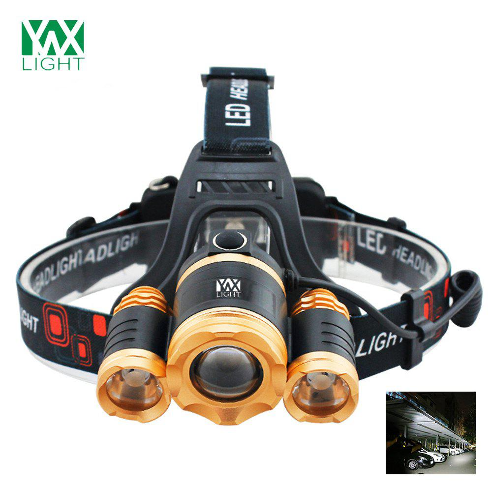 YWXLight 30W LED Headlamp Waterproof Zoomable Flashlight Torch for Camping fenix hp25r 1000 lumen headlamp rechargeable led flashlight