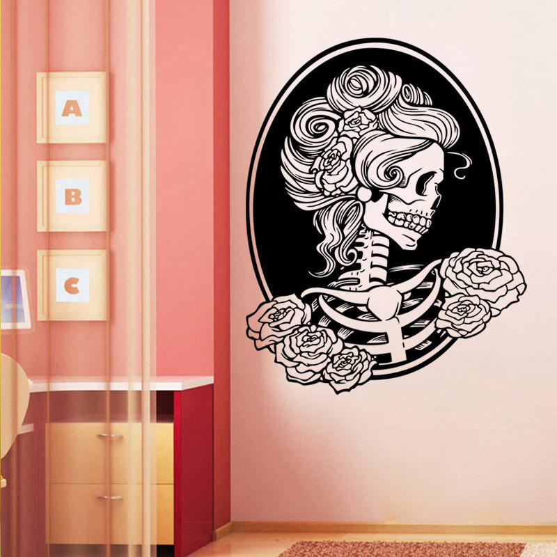 Day of the Dead Girl Skull Head Vinyl Wall Decal Sticker typing of the dead overkill цифровая версия