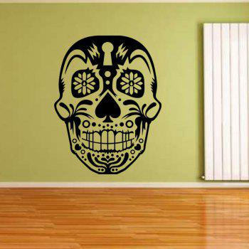 Halloween Decor Skull Head Removable Wall Sticker Decoracion Hogar