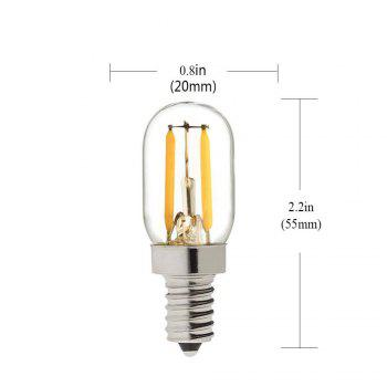 SUPli 2W Edison Bulb Vintage Tubular Night Light Bulb E14 Base LED Filament Candelabra Bulbs Ultra Warm White 2700K 20 Watt Equivalent - WARM WHITE LIGHT