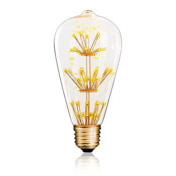 SUPli 1Pack Vintage Edison Bulbs 220V - 240V 3W Light Bulb Yellow Warm - WARM WHITE LIGHT