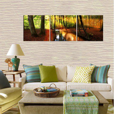 2018 yhhp 3 panneaux mangrove stream paysage impression de photos modern wall art canvas. Black Bedroom Furniture Sets. Home Design Ideas