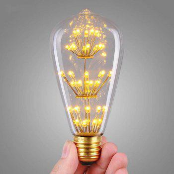 SUPli 1Pack Vintage Edison Bulbs AC 220V - 240V 3W Bright Starry Style Squirrel Cage Light Bulb for Home Lamp Lighting Fixtures Decorative Antique Filament Nostalgic Glass E27 Medium Base Warm Yellow - CLEAR WHITE CLEAR WHITE