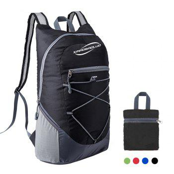 Ultra Lightweight Outdoor Hiking Backpack 20L for Travel Champing Hiking School Sports - BLACK BLACK