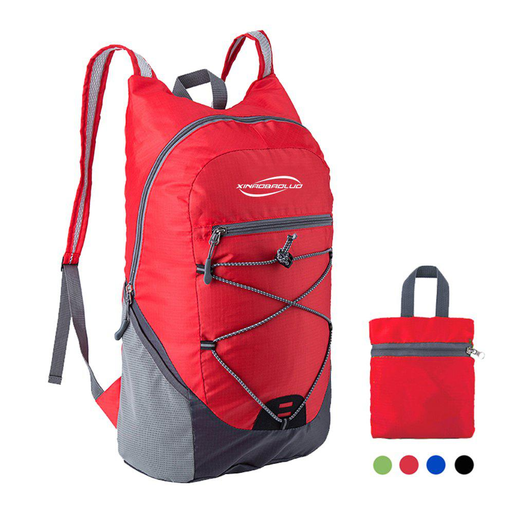 XINAOBAOLUO Ultra Lightweight Outdoor Hiking Backpack 20L for Travel Camping Hiking School Sports - RED