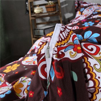 2pcs Fashion Personalized 3D Polyester  Bedding Set Twin - BROWN
