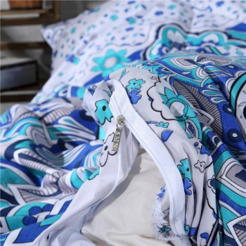2pcs Fashion Personalized 3D Polyester  Bedding Set Twin -  WHITE