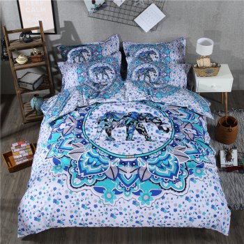 2pcs Fashion Personalized 3D Polyester  Bedding Set Twin - WHITE WHITE