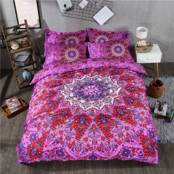 2pcs Fashion Personalized 3D Polyester  Bedding Set Twin - PURPLES PURPLES