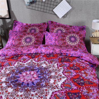2pcs Fashion Personalized 3D Polyester  Bedding Set Twin -  PURPLES