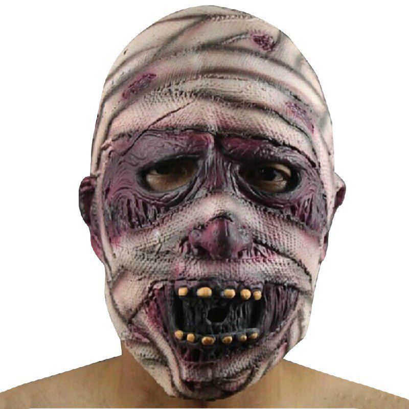 Yeduo Latex Rubber Grimace Monster Mummy Mask pour les adultes Halloween Party Supplies - multicolorcouleur