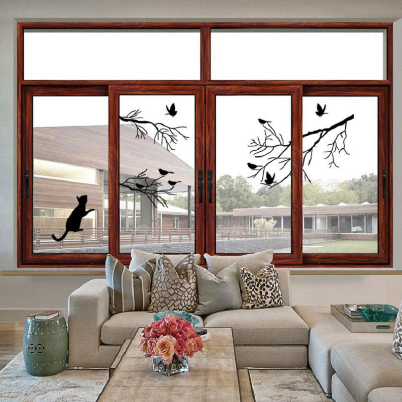 2018 bird tree branch wall stickers wall decal removable art home mural black in wall stickers. Black Bedroom Furniture Sets. Home Design Ideas