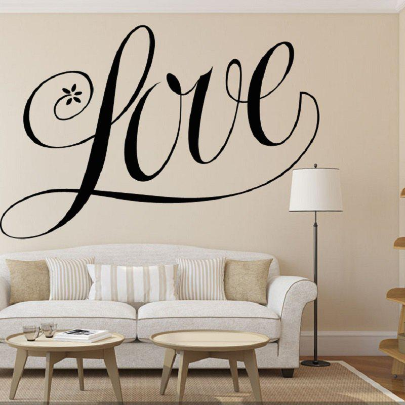 Love Shape Vinyl Carving Wall Decal Sticker for Home Decoration quote wall sticker i love you for home decoration waterproof removable decals