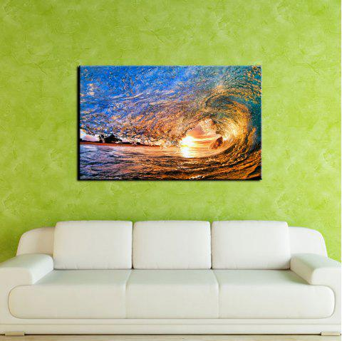 YHHP Sea Wave Landscape Picture Print Modern Wall Art on Canvas Unframed - COLORMIX 24 X 36 INCH (60CM X 90CM)