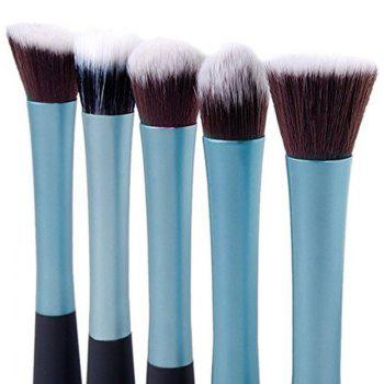 TODO 5PCS Pro Duo-Fiber Face Makeup Brush Multi Task Set -  BLUE