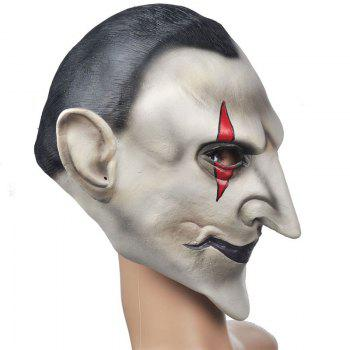 Yeduohorror Devils Latex Scary Mask Earl of Hell Face Vampire Bloodsucker Halloween Masquerade Mascara Terror Cosplay Party Props - COLORMIX