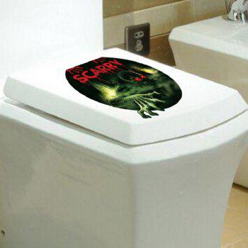Bathroom Sticker Toilet Scary Waterproof Wall Decals Toilet Sticker - MIXED COLOR 36 X 30CM