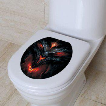 Horrible Ghost Poster Waterproof Bathroom Toilet Horror Stickers - MIXED COLOR 36 X 30CM